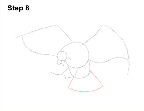 How to Draw Bald Eagle Hunting Swooping Wings 8