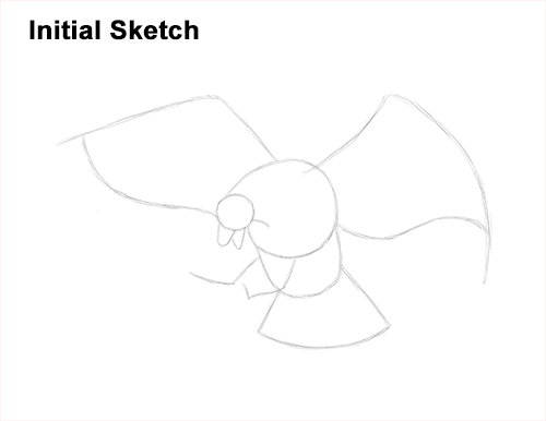 How to Draw Bald Eagle Hunting Swooping Wings Guide Lines