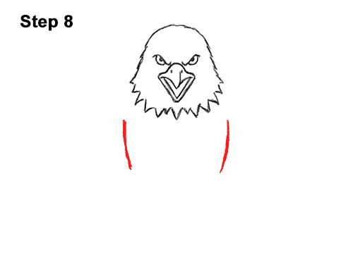 How to Draw Angry Cartoon Bald Eagle Flying Wings Talons 8