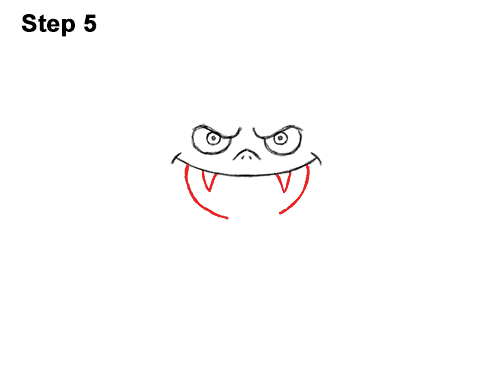 How to Draw Angry Funny Cute Halloween Cartoon Bat 5
