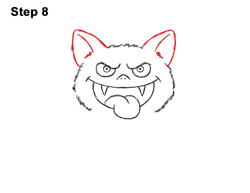 How to Draw Angry Funny Cute Halloween Cartoon Bat 8