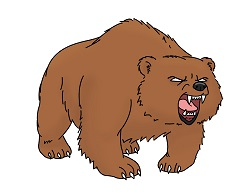 How to Draw a Tough Brown Cartoon Grizzly Bear
