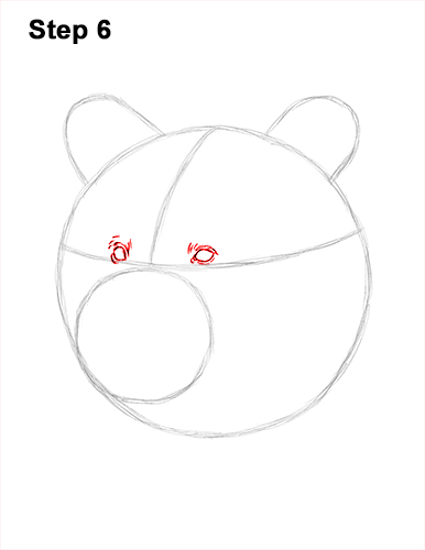 How to Draw a Grizzly Brown Bear Head Portrait 6