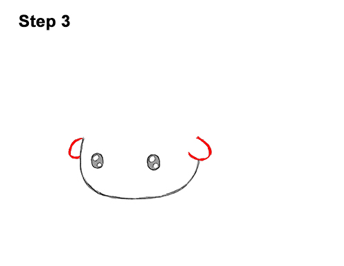 How to Draw Cute Cartoon Bison Buffalo 3