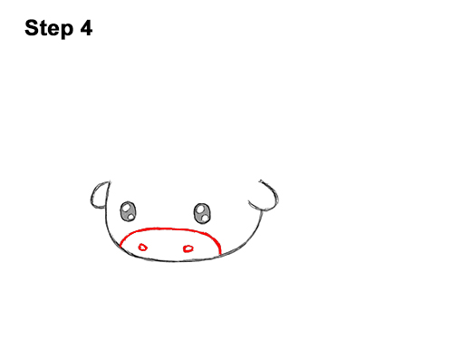 How to Draw Cute Cartoon Bison Buffalo 4