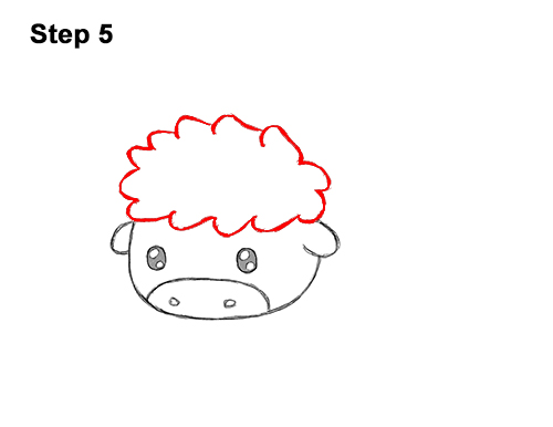 How to Draw Cute Cartoon Bison Buffalo 5