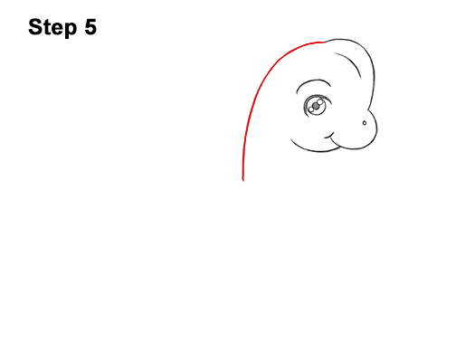 How to Draw a Cute Cartoon Brachiosaurus Dinosaur Chibi Kawaii 5