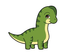 How to draw a Cute Cartoon Chibi Kawaii Brachiosaurus Dinosaur