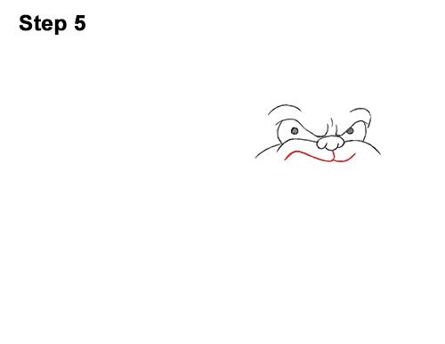 Draw Cartoon Bulldog Tough Mean Dog 5