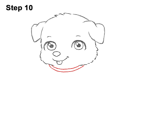 Draw Cartoon Puppy Dog Retriever 10