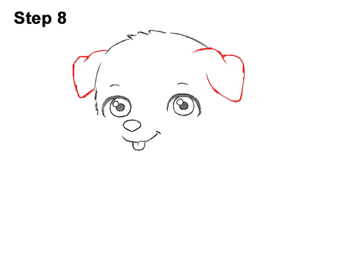 Draw Cartoon Puppy Dog Retriever 8