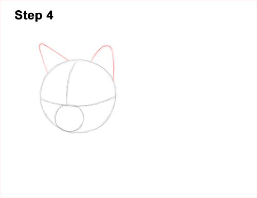 How to Draw a Tabby Kitty Cat Sitting Laying Roosting 4