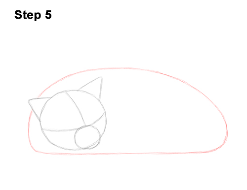 How to Draw a Cat Kitten Sleeping 5
