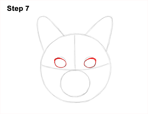 How to Draw a Tabby Kitty Cat Head Detail 7