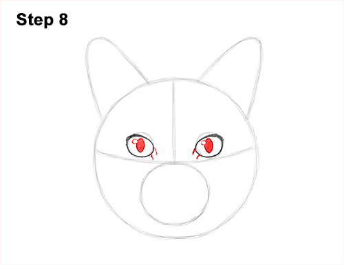 How to Draw a Tabby Kitty Cat Head Detail 8