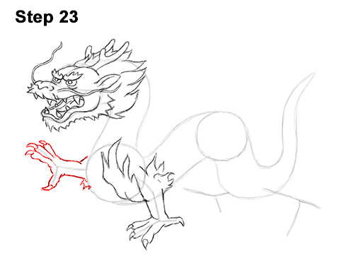 Draw Chinese Dragon 23