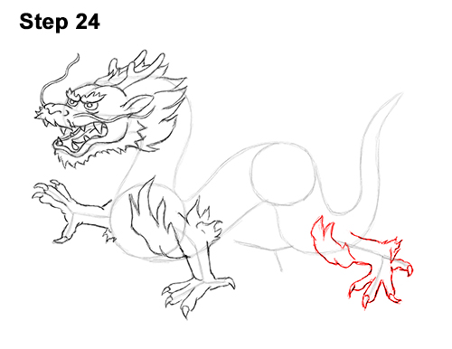 Draw Chinese Dragon 24