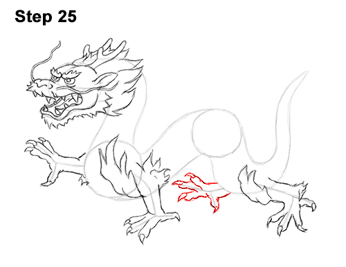 Draw Chinese Dragon 25