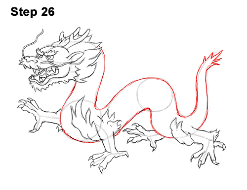 Draw Chinese Dragon 26