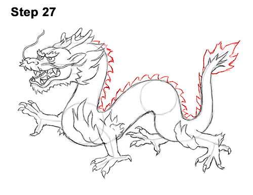 Draw Chinese Dragon 27