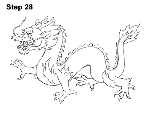 Draw Chinese Dragon 28