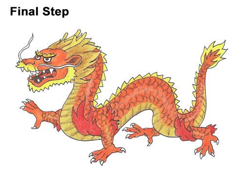 Draw Chinese Dragon