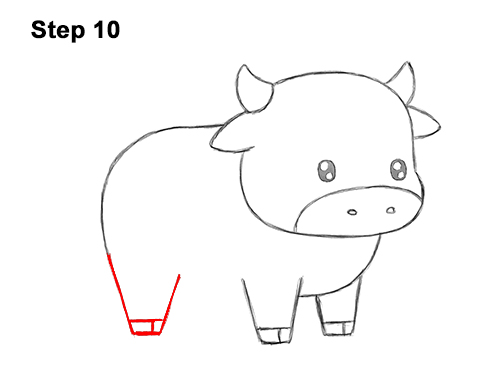 How to Draw Cute Cartoon Cow Chibi Kawaii 10