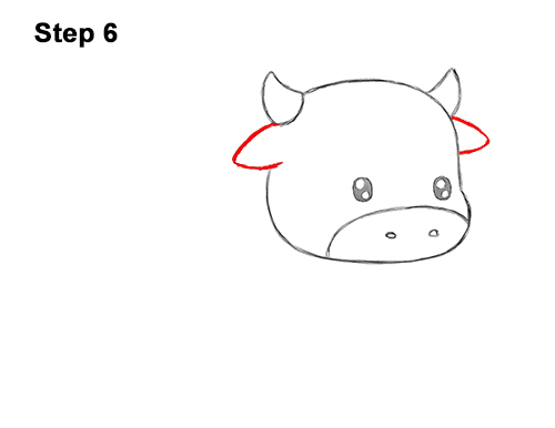 How to Draw Cute Cartoon Cow Chibi Kawaii 6