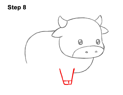 How to Draw Cute Cartoon Cow Chibi Kawaii 8