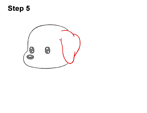 How to Draw a Cute Cartoon Dachshund Wiener Puppy Dog Chibi Kawaii 5