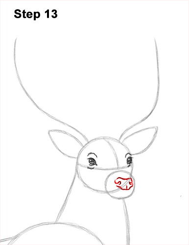 How to Draw Noble Deer Antlers Majestic Buck Stag 13
