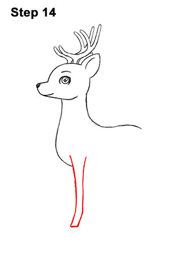 How to Draw Cute Cartoon Deer Antlers 14