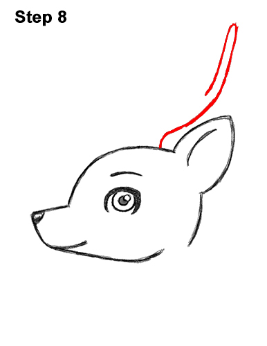 How to Draw Cute Cartoon Deer Antlers 8