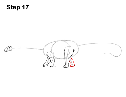 How to Draw Dinosaur Diplodocus Sauropod 17
