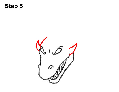 How to Draw Cool Angry Mean Cartoon Dragon 5