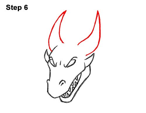 How to Draw Cool Angry Mean Cartoon Dragon 6