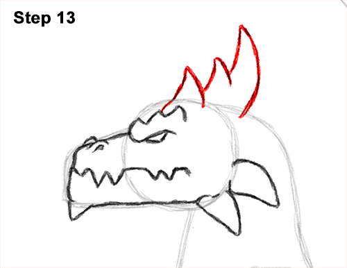 How to Draw a Spring Summer Earth Dragon 13
