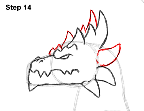 How to Draw a Spring Summer Earth Dragon 14