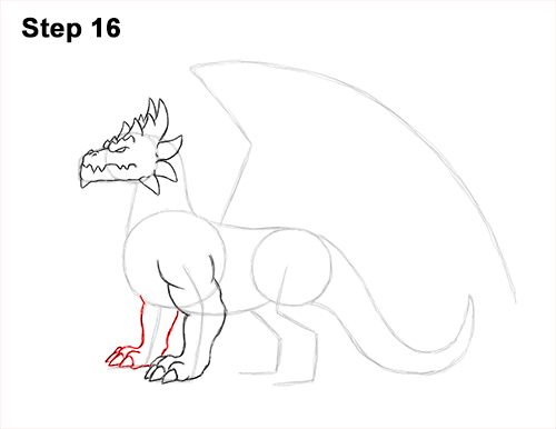 How to Draw a Spring Summer Earth Dragon 16