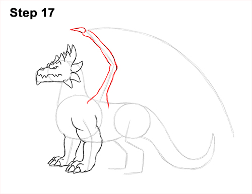 How to Draw a Spring Summer Earth Dragon 17