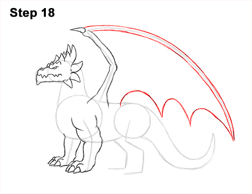 How to Draw a Spring Summer Earth Dragon 18