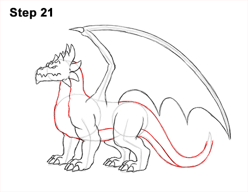 How to Draw a Spring Summer Earth Dragon 21