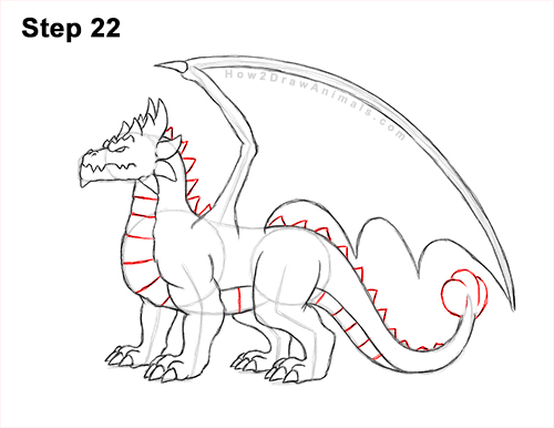 How to Draw a Spring Summer Earth Dragon 22