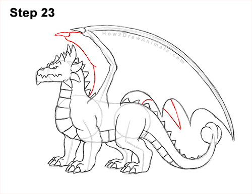 How to Draw a Spring Summer Earth Dragon 23