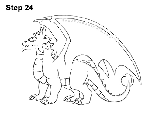 How to Draw a Spring Summer Earth Dragon 24