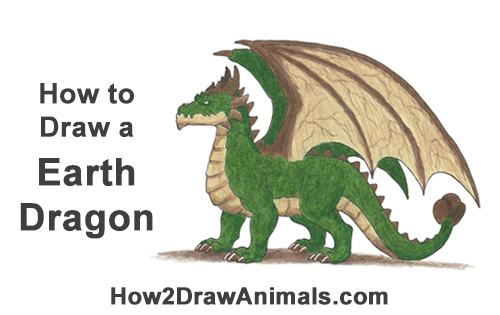 How to Draw a Green Spring Summer Earth Dragon