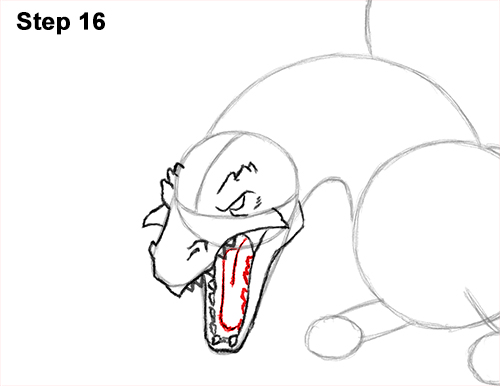 How to Draw Dragon Flying Fire Wings Flames 16