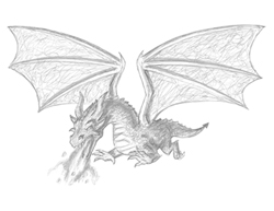 How to Draw a Dragon Flying Fire