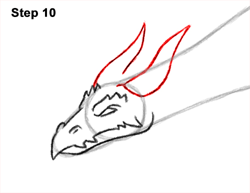 How to Draw a Dragon Flying Wings 10