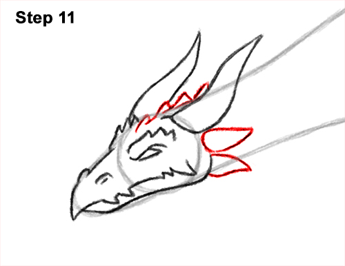 How to Draw a Dragon Flying Wings 11